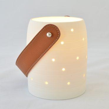 «Luciole» porcelaine et cuir