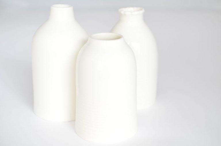 Bouteille soliflore porcelaine